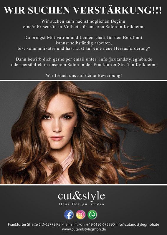 Cut and Style sucht Verstärkung - bewirb Dich jetzt!